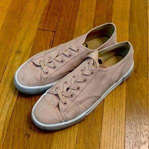 Dusty Rose Platform Sneakers